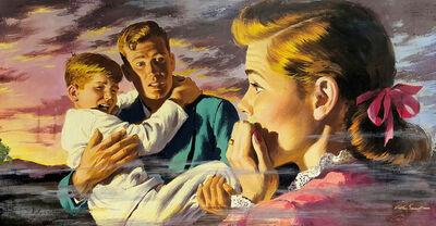 Arthur Sarnoff, 'Saving the Children, Family in Horror', ca. 1950
