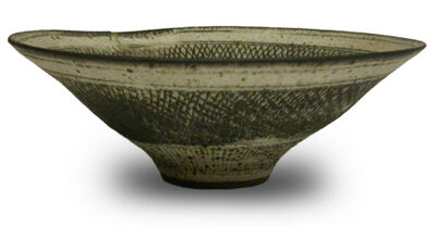 "Lucie Rie, 'Large Stoneware ""Knitted Bowl"" with Special 'Mend'', ca. 1950"