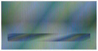 Carlos Cruz-Diez, 'Induction chromatique à Double Frequence sur 2,8 exempaires', 2015