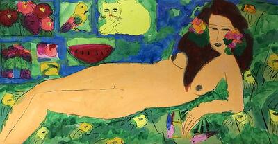 Walasse Ting 丁雄泉, 'Beauty Fantasy 美麗遐想', 1990s
