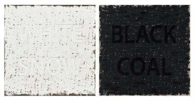 Huang Rui, 'White Snow Black Coal,', 2014