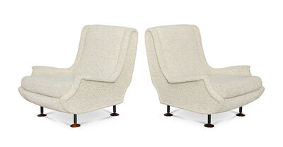 "Marco Zanuso, 'Pair of ""Regent""  Club Chairs'"