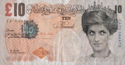 Banksy X Banksy of England, 'Di-Faced Tenner, 10 GBP Note', 2005