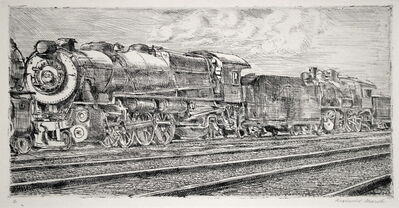 Reginald Marsh, 'Pennsylvania RR Loco Waiting to be Junked', 1932