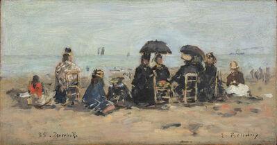 Eugène Boudin, 'Trouville, scène de plage', 1885