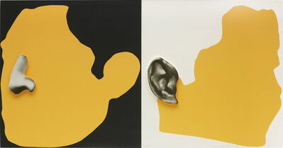 John Baldessari, 'Noses & Ears, Etc.: The Gemini Series: Two Profiles, One with Nose (B&W); One with Ear (B&W)', 2006