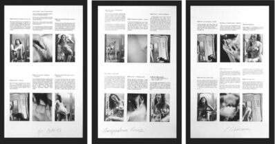 Carolee Schneemann, 'Correspondence Course (triptych)', 1980-1983