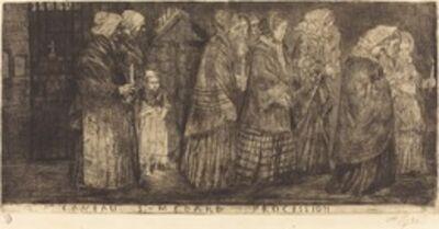 Alphonse Legros, 'Procession in the Sepulchre of Saint Medard(Procession dans les caveaux de St.Medard)', 1859