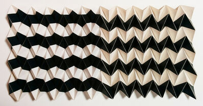 Ruth Asawa, 'Untitled S.529 (Wall-Mounted Paperfold with Horizontal Stripes)', ca. 1970s