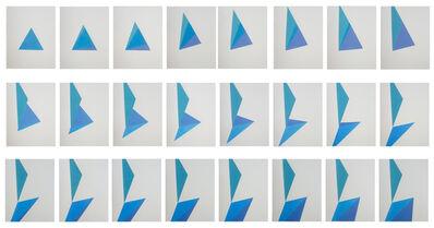 Daniela Libertad, 'Estudio sobre triángulo (desdoble 1)', 2017