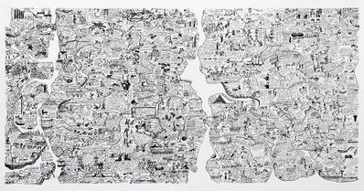 Öyvind Fahlström, 'Sketch for World Map from the Peace Portfolio', 1972