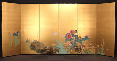 Nakagawa Wadō, 'Six-Panel Flower and Bird Screen', 1920-1930
