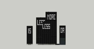 Aude Moreau, 'Less is more or ... #1', 2015