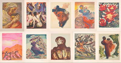 David Alfaro Siqueiros, 'Mexican Suite (10 Lithographs)', 1968