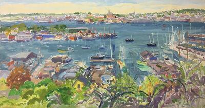 Nell Blaine, 'Gloucester Harbor from Banner Hill', 1986