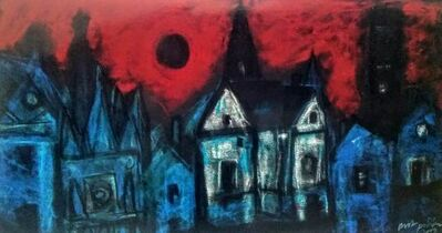 "Asit Poddar, 'Black Sun, Pastel on Fabriano Paper by Contemporary Artist ""In Stock""', 2010-2020"