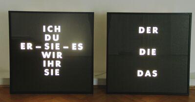 Thomas Locher, 'Der Die Das  / Ich Du Er Sie', 1988