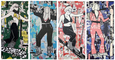 Jane Maxwell, 'Sexy Skier Series (4 Panels)', 2021