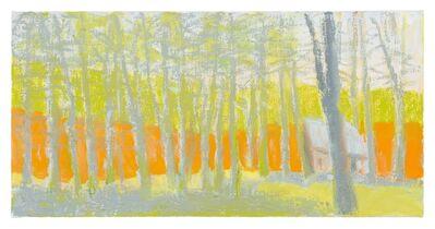 Wolf Kahn, 'Bright Orange, Pale Yellow, and Gray', 2014