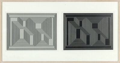 Josef Albers, 'Formulation: Articulation (Diptych)', 1972