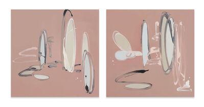 Susanne Paesler, 'Untitled (small bown landscapes), 2 parts', 2003