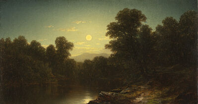 John William Casilear, 'Moonlight', Date Unknown