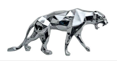 Richard Orlinski, 'Chrome Panther', 2017
