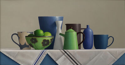 Janet Rickus, 'Still Life with Limes and Pottery', 2021