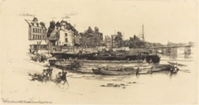 Francis Seymour Haden, 'Old Chelsea [see COMMENTARY]', 1863