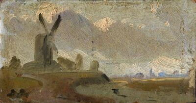 Artist Unknown, British, 19th Century, 'Landscape with Windmill', 19th century