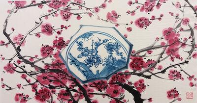 Hyo Bin Kwon, 'Blue and white Impressions - Blossom', 2018