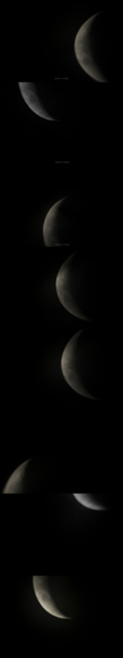 Sharon Harper, 'Sun/Moon (Trying to See through a Telescope), 2010 Oct 11 7:26:48PM - 2010 Oct 11 7:29:48PM', 2010
