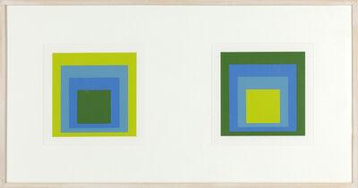 Josef Albers, 'Formulation: Articulation Diptych', 1972