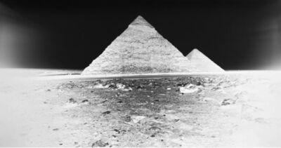 Vera Lutter, 'Chephren and Cheops Pyramids, Giza: April 12, 2010'