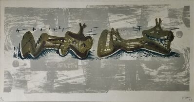 Henry Moore, 'Two Reclining Figures', 1963