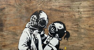 "Banksy, '""Think Tank""', 2003"