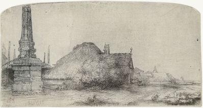 Rembrandt van Rijn, 'Cottage and Obelisk on the Spaarndammerdijk', 1650
