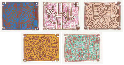 Keith Haring, 'Chocolate Buddha (Complete Suite)', 1989