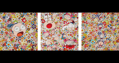 Takashi Murakami, 'New Day: Self Portrait; New Day: DOB Totem Pole; and New Day: Lots, Lots of Kaikai and Kiki', 2011