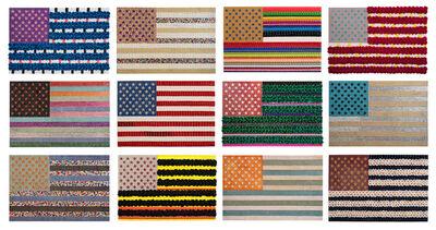 Hee Sook Kim, 'My American Flag 1-12', 2018-2019