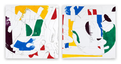 Ellen Priest, 'Jazz: Thinking Out Loud, Reaching for Song #13/14 (Abstract painting)', 2011