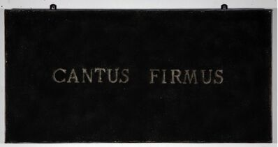 Pier Paolo Calzolari, 'Cantus Firmus', 1977