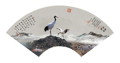 YAO LU 姚璐, 'Cranes Squawking on the Deserted Hill 孤山鸣鹤图 ', 2017