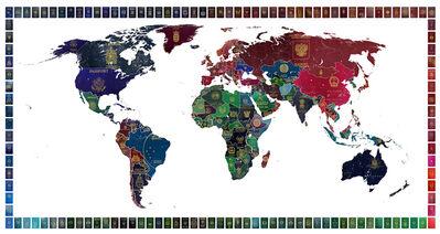 Yanko Tihov, 'World Passport Map', 2016