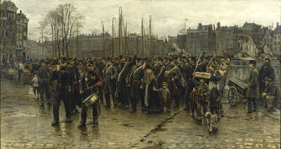 Isaac Israels, 'Transport of colonial soldiers', 1883/1884