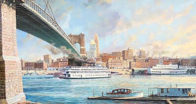 Michael Blaser, 'Cincinnati Morning, Arrival of the Delta Queen, 1st March, 1948', 20th Century