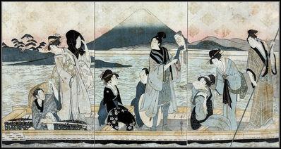 Kitagawa Utamaro, 'Ichi Fuji Ni Taka San Nasubi : Triptych', 1780-1800
