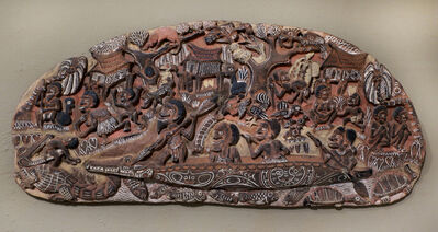 Papua New Guinea Tribal Art, 'Storyboard 7', 1960-1995