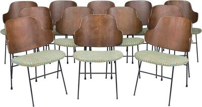 Ib Kofod-Larsen, 'Twelve Penguin Chairs', circa 1952