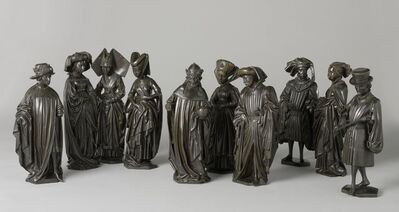 Attributed to Renier van Thienen, 'Ten weepers from the tomb of Isabella of Bourbon', ca. 1475-1476